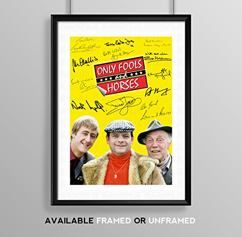 Only Fools and Horses Cast Signed Autograph A4 Poster Photo Print Photograph Artwork Wall Art Picture TV Show Series Memorabilia Gift David Jason Nicholas Lyndhurst Lennard Pearce (POSTER ONLY)