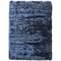 Home Life Alfombra con Diseño Shaggy, Poliéster, Azul, 60 x 110 cm