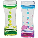 Sensory Toy For Relaxation - ADHD Fidget Toy - Liquid Motion Bubbler Timer - Toy For Sensory Play, Calming Toy, (1 Piece) Assorted Colors