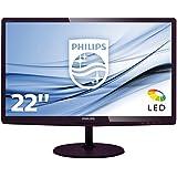 Philips 277E6LDAD/00 68,6 cm (27 Zoll) Monitor (DVI, HDMI, 1920 x 1080, 1ms Reaktionszeit, 60 Hz) dunkelkirsch