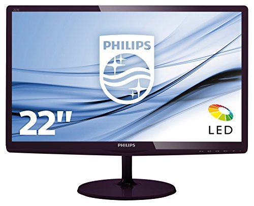 Philips 227E6LDAD/00 54 cm (21,5 Zoll) Monitor (VGA, DVI, HDMI, 1920 x 1080, 1 ms) dunkelkirsch -