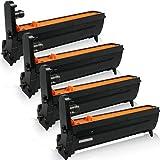 4x kompatible XXL Trommeleinheiten für OKI C-5550N C5550 N C5550 MFP C5550 N MFP C-5800LDN C5800 LDN C-5900CDTN C5900 CDTN C-5900DTN C5900 DTN - Black Cyan Magenta Yellow , Eco Pro Serie