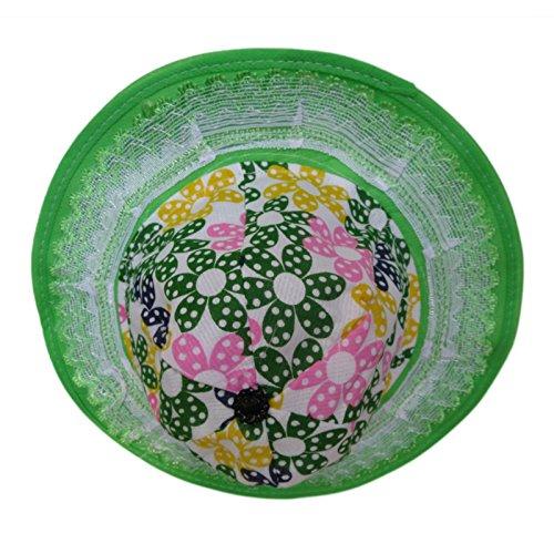 DCS Beautifully Designed Green Sun Hat