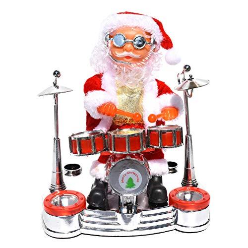 Stobok babbo natale che canta e balla elettrico con musica per regalo bambini (senza batteria)