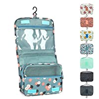 Somio Portable Travel Folding Make up Toiletry Bags with Hook Organizer Bags Cosmetic Bags