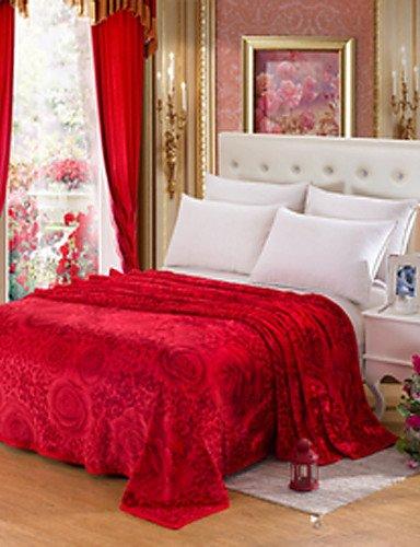 zzll84151 200cm*230cm - Blau / Braun / Rosa / Lila / Rot / Chocolate - 100% Polyester - 200cm*230cm , pink -