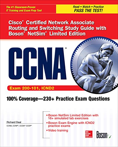 CCNA Routing and Switching ICND2 Study Guide (Exam 200-101, ICND2), with Boson NetSim Limited Edition Access Code (Certification Press) (English Edition) por Richard Deal