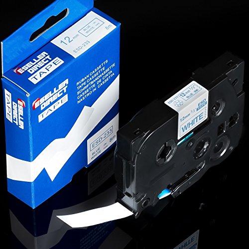 1 x 900 P-touch schriftkassette pour brother tZ - 233 tZe - 233 bleu/blanc