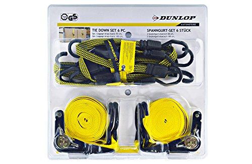 ASIS nettrade Spanngurt Set Dunlop 6-teilig - vielseitiges Befestigungsset (1 Set)