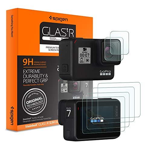 chutzfolie kompatibel mit GoPro Hero 7/6/5, GoPro Zubehör, 6 Stück(2*Kamera+4*Bildschirm), Anti-Kratzer Blasenfrei, Kristallklar, GoPro Schutzfolie, (S47GL26221) ()