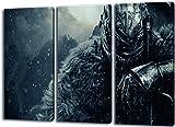 PrintArtGalery Dark Souls 3-Teilig auf Leinwand, XXL riesige Bilder fertig gerahmt mit Keilrahmen, Kunstdruck auf Wandbild mit Rahmen