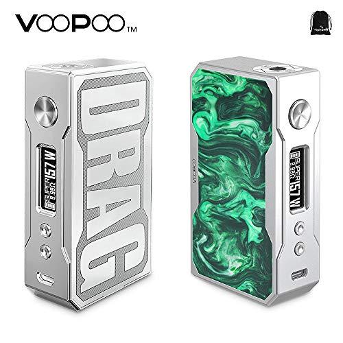 Original VOOPOO Drag 157W TC Box MOD E-Cigarette Vape Mod 157W Drag Mod  with Gene Chip upgradeable Firmware No Nicotine, No E Liquid (Resin Jade)