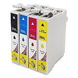 Toner Kingdom 4 Pack (1 set) compatibles Epson 29XL Cartuchos de tinta para uso en Epson Expression Home XP-235 XP-332 XP-335 XP-432 XP-245 XP-247 XP-342 XP-345 XP-435 XP-442 XP-445