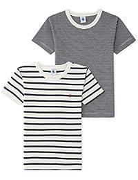 Petit Bateau Jungen Unterhemd Lot T-Shirt Mc, 2er Pack