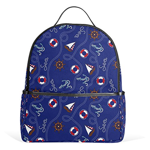 nker Nautische Muster Schule Rucksäcke Bookbags für Jungen Mädchen Jugendliche Kinder (Nautische Rucksack)
