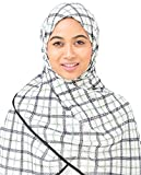 Silk Route© New Wind Chime & Limoges Check Motif Viscose Stole Scarf Ladies Wrap Hijab Regular Size