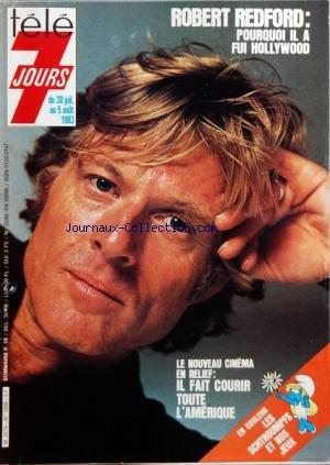 COUVERTURE ISOLEE DE TELE 7 JOURS [No 1209] du 30/07/1983 - ROBERT REDFORD - LE CINEMA EN RELIEF par Collectif