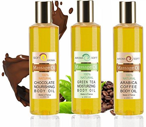 Trio Olio di Vinaccioli Aromaticos Dimagrantes 3 x 200 ml Caffè, Tè verde e Cioccolato