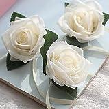 philna12Künstliche Stoff Rose Blütenköpfe Hochzeit Decor