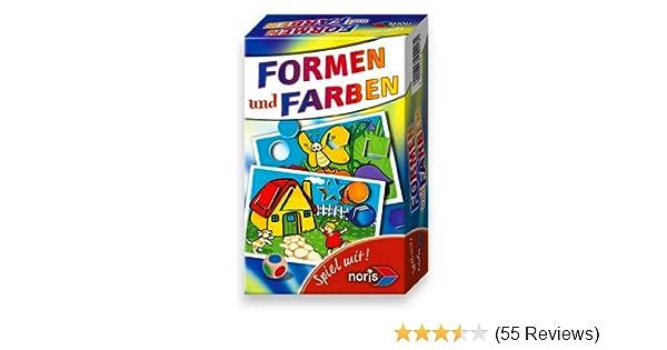 Noris Spiele 606094218 - Formen & Farben, Reise- und Mitbringspiel ...