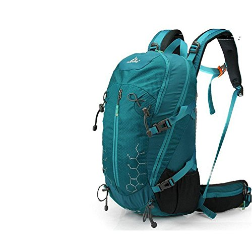 YYY-Zaino outdoor alpinismo borsa 30L uomini e donne multi-funzionale alpinismo pacchetto equitazione borsa a tracolla coreana impermeabile zaino , green Dark Green