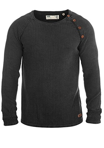 SOLID-Tenne-Herren-Strickpullover-Acid-Washed