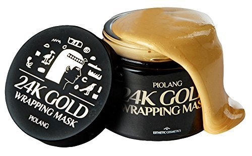 Korean Piolang 24K Gold Wrapping Mask With Free Brush Dilute Redness Balance the Face Color Return Natural Radiance Refresh Tired Skin- 80ML by koreangs