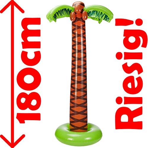 Aufblasbare * DEKO-PALME * für Mottoparty, Karneval oder Geburtstag // Riesige 180cm groß! // Kindergeburtstag Beach Party Hawaii Pool Strand