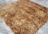 SWEET DREAMS HOME - Lussuoso ipoallergenico 100% Peruviano Suri Baby Alpaca Tappeto Trapunta, (200 x 200 Cm) Misto Beige Natural - Nessun colorante - Lato inferiore recuperato 100% Peruviano Cotone Pima 300-fili Thermo-intelligente. Organico, fatto a mano.