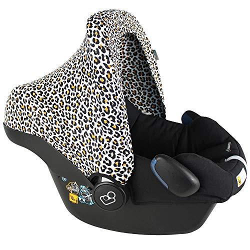 Capote luxueux Bébé Confort Citi (SPS), Cabriofix, Pebble (Plus), Rock ♥ Blanc Jaune Léopard ♥ OEKO-TEX Coton
