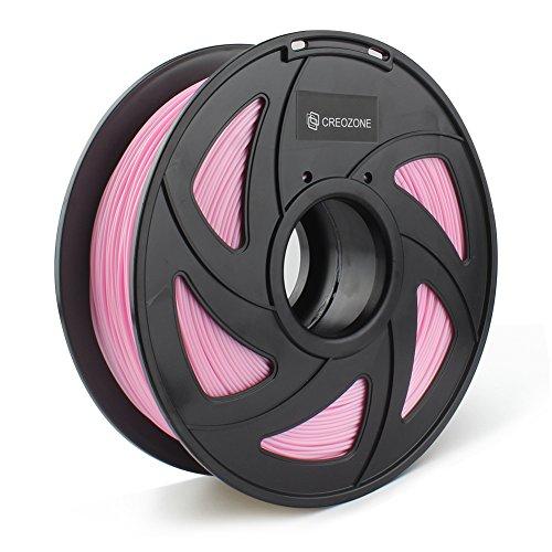 CREOZONE filamento Silk Like 1.75 1kg spool para la impresora 3d (Rosado)