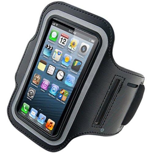 Arm Tasche Case Armband Tasche für Apple iPhone 5/5G Laufen Joggen Sport (Schwarz)
