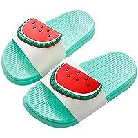 QZBAOSHU Boy Girl Beach Slides Slippers Sandals Women Men *Label Size 36/37= 2.5/3 UK Women Green-Watermelon