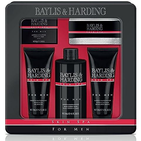 Baylis & Harding SSM175PCTIN Spa Collection Coffret Cadeau Soins pour Homme Ambre/Bois de Santal