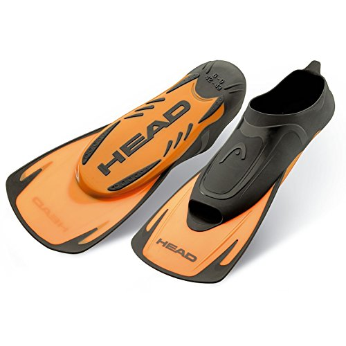 Head Swim Fin Energy - Aleta unisex, color naranja, talla 44