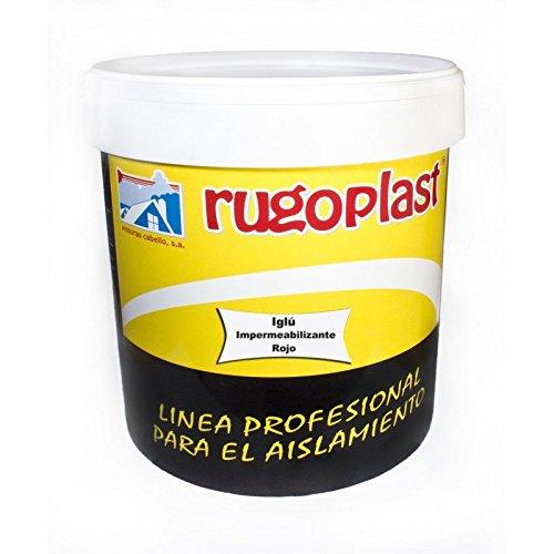 Pintura impermeabilizante economica ideal para eliminar las goteras de tu terraza, tejado, casa... Iglú Varios Colores (15L, Rojo) Envío GRATIS 24 h.