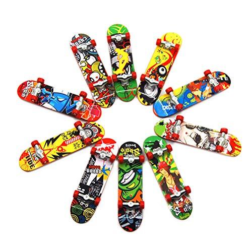 BESPORTBLE 3 stücke Kunststoff Mini Skateboard Spielzeug Deck LKW Finger Board Skate Park Jungen Kind Kinder Geschenk (Farbe randomization) -