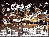 CICADAS Weihnachts Fensterbilder,Weihnachten Fenstersticker,Fensteraufkleber...