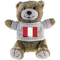 Oso de peluche bandera retro Perú Beige