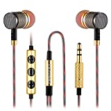 Betron YSM1000 Earphones Headphones, High Definition, in-ear, Noise Isolating , Heavy Deep Bass for iPhone, iPod, iPad (With Remote and Mic)