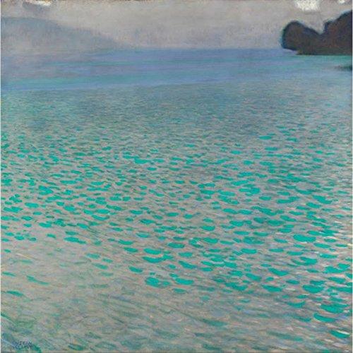 Niik Stampa Il Lago attersee di Gustav Klimt 100 x 99 cm Falso d'autore su Tela