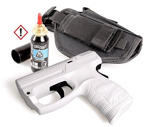 SDG Personal Defense Pistole Walther PDP im Set mit Pfefferkartusche und HQ Gürtelholster
