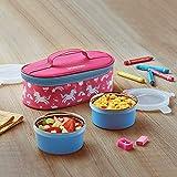 Borosil Sunshine Stainless Steel Kids Lunch Box for School, 300 ml, Set of
