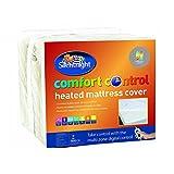 Silentnight Comfort Control Matratzenauflage, beheizt, Textil, Single (90 × 190 cm)