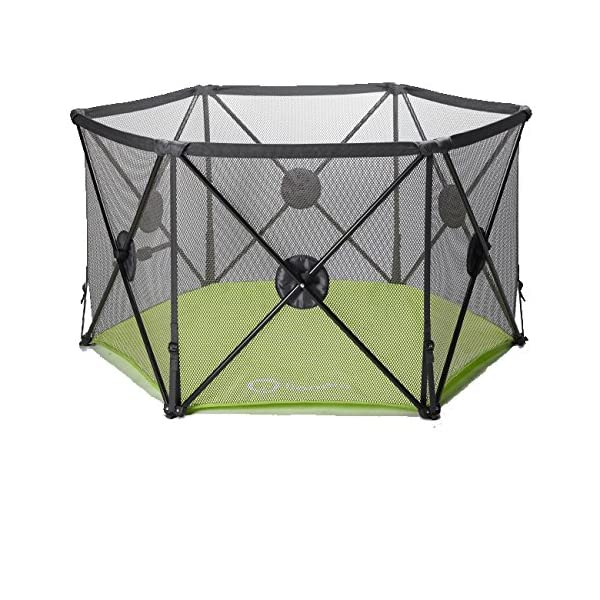 Callowesse Pop Up and Play Secure Easy Fold Playpen Callowesse Largest 6-panel playpen - 144cm across instead of 122cm, 72cm tall Mesh sides to maximise visbility and breathability Added locking mechanisms to enhance stability and security to keep your little one secure 1