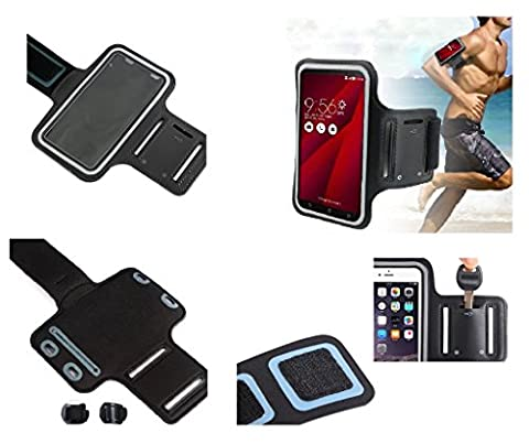 DFV mobile - Armband Professional Cover Neoprene Waterproof Wraparound Sport with Buckle for => DIGINNOS MOBILE DG-W10M (2015) > Black