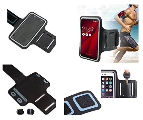 Preisvergleich Produktbild DFV mobile - Armbandtasche Sport Armband Berufsausrüstung Wasserabweisende aus Neopren premium für=> UHANS S1 > Schwarz