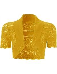nouvelles dames tricot crochet filet de pêche boléro haussements d'épaules culture