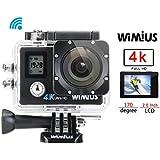 Galleria fotografica Wimius Action Camera 4K WiFi Full HD 1080P Videocamera 16MP Fotocamera Subacquea,4K/30FPS,1080P/60FPS,WiFi,2 batterie...