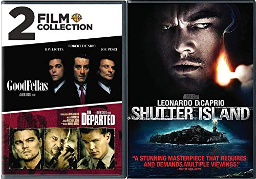 Criminally Insane Triple Feature The Departed Martin Scorsese & Shutter Island Leonardo DiCaprio + Goodfellas DVD 2 Pack Movie Set